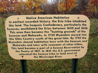 Native American Habitation Marker image. Click for full size.