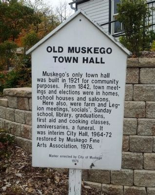 Old Muskego Town Hall Marker image. Click for full size.
