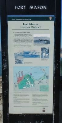 Fort Mason Historic District Marker image. Click for full size.