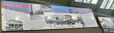 "Interior (upper level) Historical Panels: ""Flower Row"" & ""The Market Sign"" image. Click for full size."