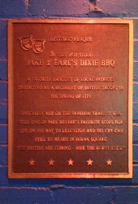 Jake & Earl's Dixie BBQ Marker image. Click for full size.