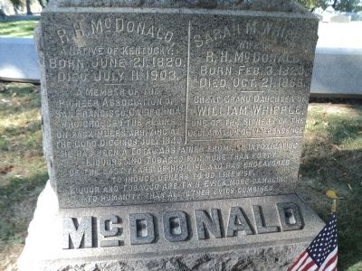 McDonald Marker image. Click for full size.