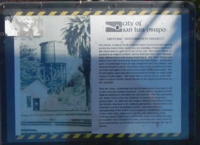 Southern Pacific Water Tower Marker image. Click for full size.