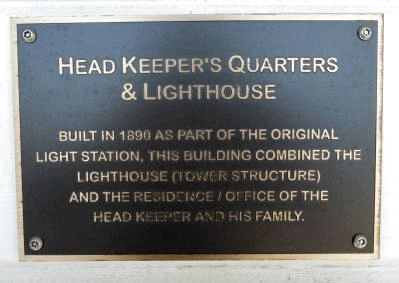 Head Keeper's Quarters & Lighthouse Marker image. Click for full size.
