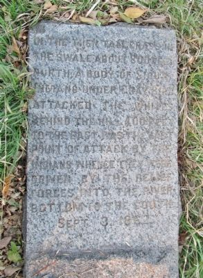 The Battle of Birch Coulee Marker image. Click for full size.