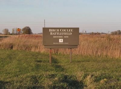 Birch Coulee Battlefield Sign image. Click for full size.