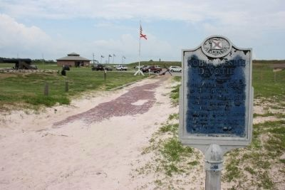 Noble Leslie DeVotie Marker located north of the Fort Morgan Museum. image. Click for full size.