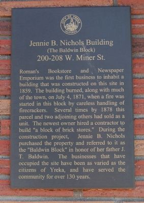 Jennie B. Nichols Building Marker image. Click for full size.