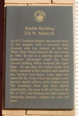 Ruehle Building Marker image. Click for full size.