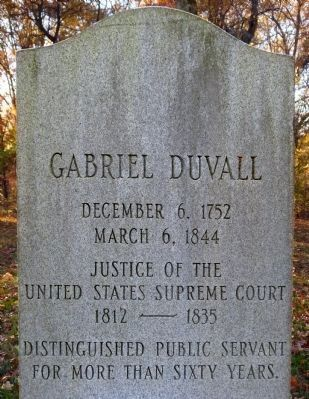 Gabriel Duvall Headstone image. Click for full size.