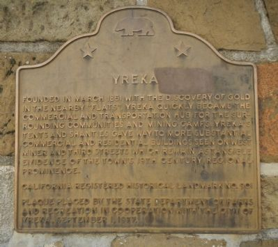 Yreka Marker image. Click for full size.