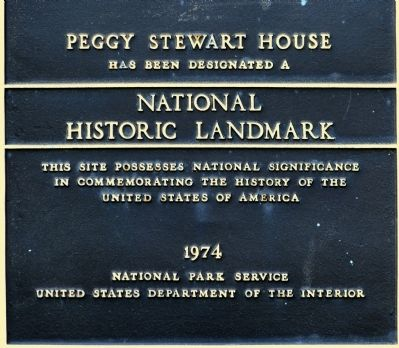 Peggy Stewart House Marker image. Click for full size.