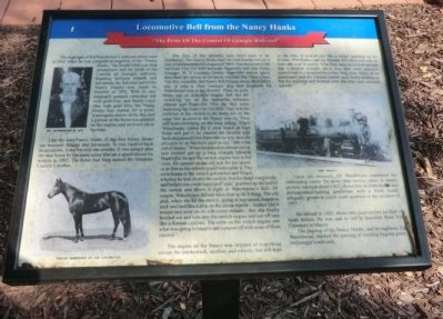 Locomotive Bell from the Nancy Hanks Marker image. Click for full size.