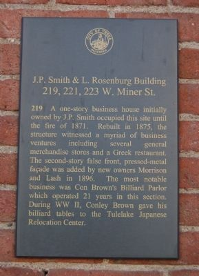 J.P. Smith & L. Rosenburg Building Marker image. Click for full size.