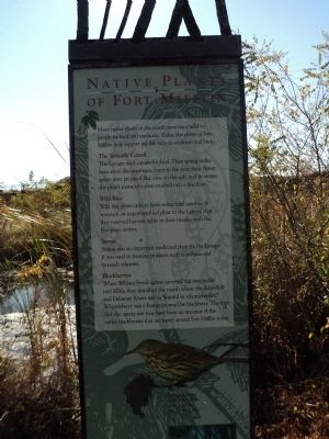 Native Plants of Fort Mifflin Marker image. Click for full size.