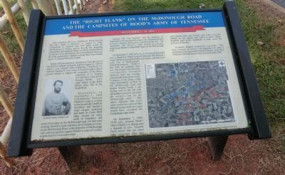 "The ""Right Flank"" on the McDonough Road Marker image. Click for full size."
