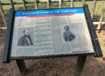 Kilpatrick's Raid at the Nash Farm Marker image. Click for full size.