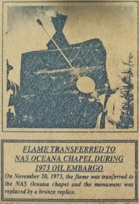 Flame Transferred to<br>NAS Oceana Chapel During<br>1973 Oil Embargo image. Click for full size.