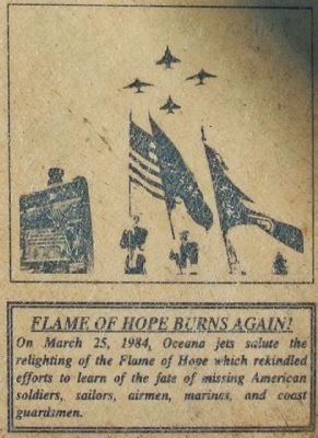 Flame Of Hope Burns Again! image. Click for full size.