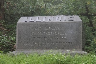 59th Illinois Infantry. Marker image. Click for full size.