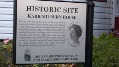Karr/Milburn House Marker image. Click for full size.