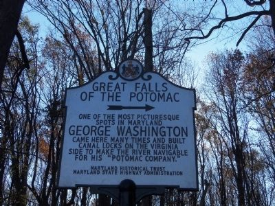 Great Falls of the Potomac Marker image. Click for full size.