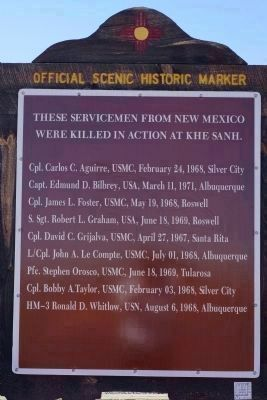 These Servicement from New Mexico Were Killed in Action at Khe Sanh image. Click for full size.