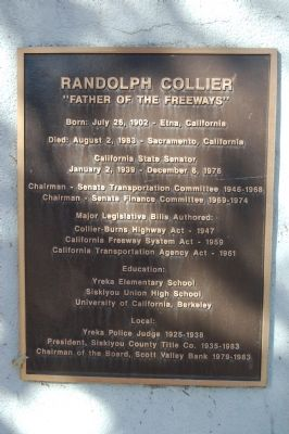 Second plaque at the Randolph Collier Monument image. Click for full size.