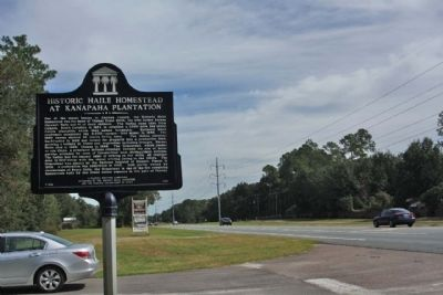 Historic Haile Homested At Kanapaha Plantation Marker, looking north along SW Archer Road (SR 24) image. Click for full size.