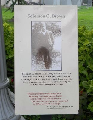 Solomon G. Brown Marker image. Click for full size.