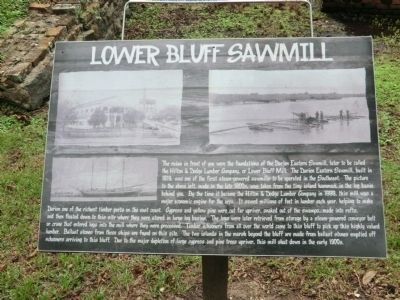 Lower Bluff Sawmill Marker image. Click for full size.