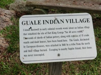 Guale Indian Village Marker image. Click for full size.