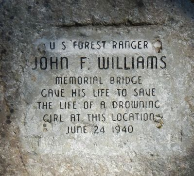 John F. Williams Memorial Bridge Marker image. Click for full size.