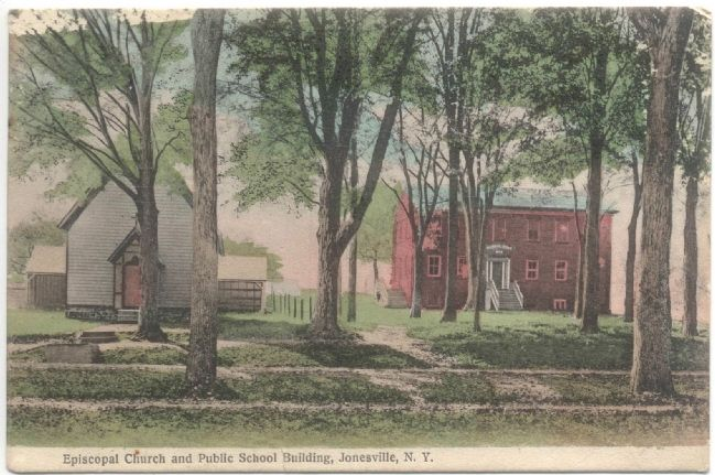 Jonesville Academy Post Card image. Click for full size.
