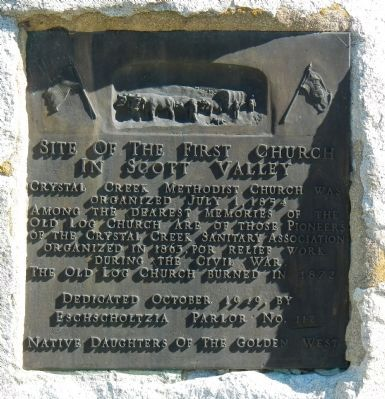 Site of the First Church in Scott Valley Marker image. Click for full size.