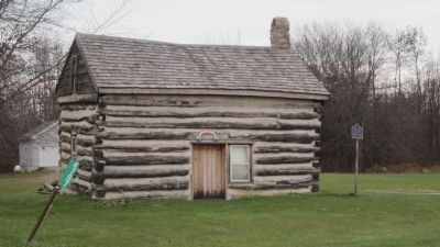 Log Cabin, Front and West sides image. Click for full size.