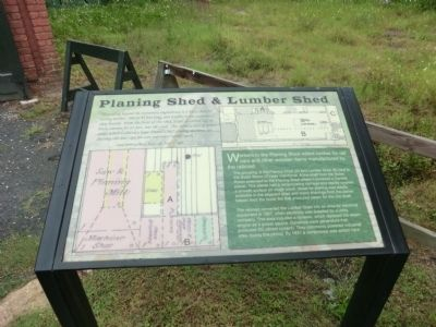 Planing Shed & Lumber Shed Marker image. Click for full size.