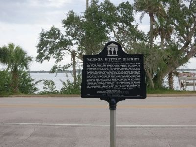 Valencia Marker and Dock Sign image. Click for full size.