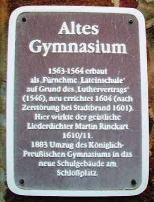 Altes Gymnasium Marker image. Click for full size.
