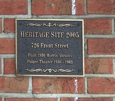 726 Front Street Marker image. Click for full size.