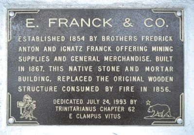 E. Franck & Co. Marker image. Click for full size.