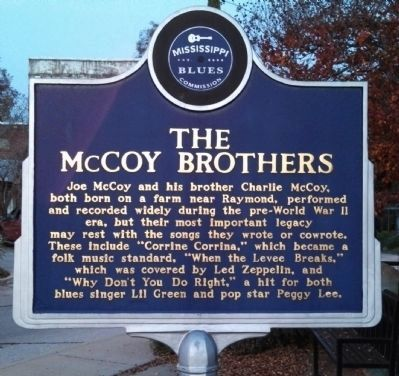 The McCoy Brothers Marker (side 1) image. Click for full size.