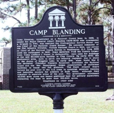 Camp Blanding Marker image. Click for full size.