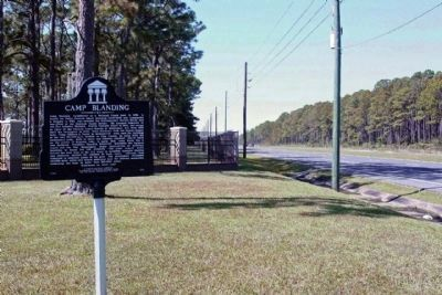 Camp Blanding Marker, looking eastward along State Road 16 image. Click for full size.