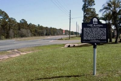 Camp Blanding Marker, looking east State Road 16, near Tallahasse Street image. Click for full size.