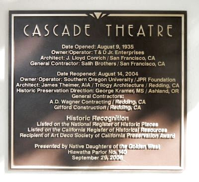 Cascade Theater Marker image. Click for full size.