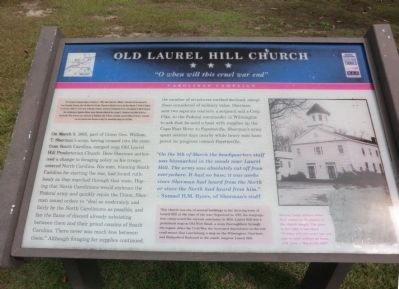 Old Laurel Hill Church Marker image. Click for full size.