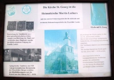 St. George's, Martin Luther's Home Church Marker image. Click for full size.