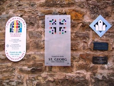St. George's Church Sign & Markers image. Click for full size.
