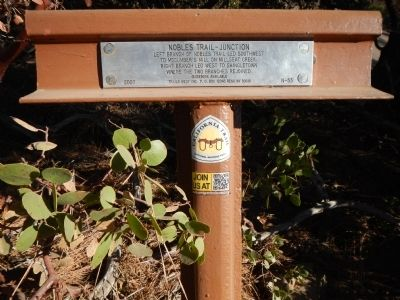 Nobles Trail – Junction Marker image. Click for full size.